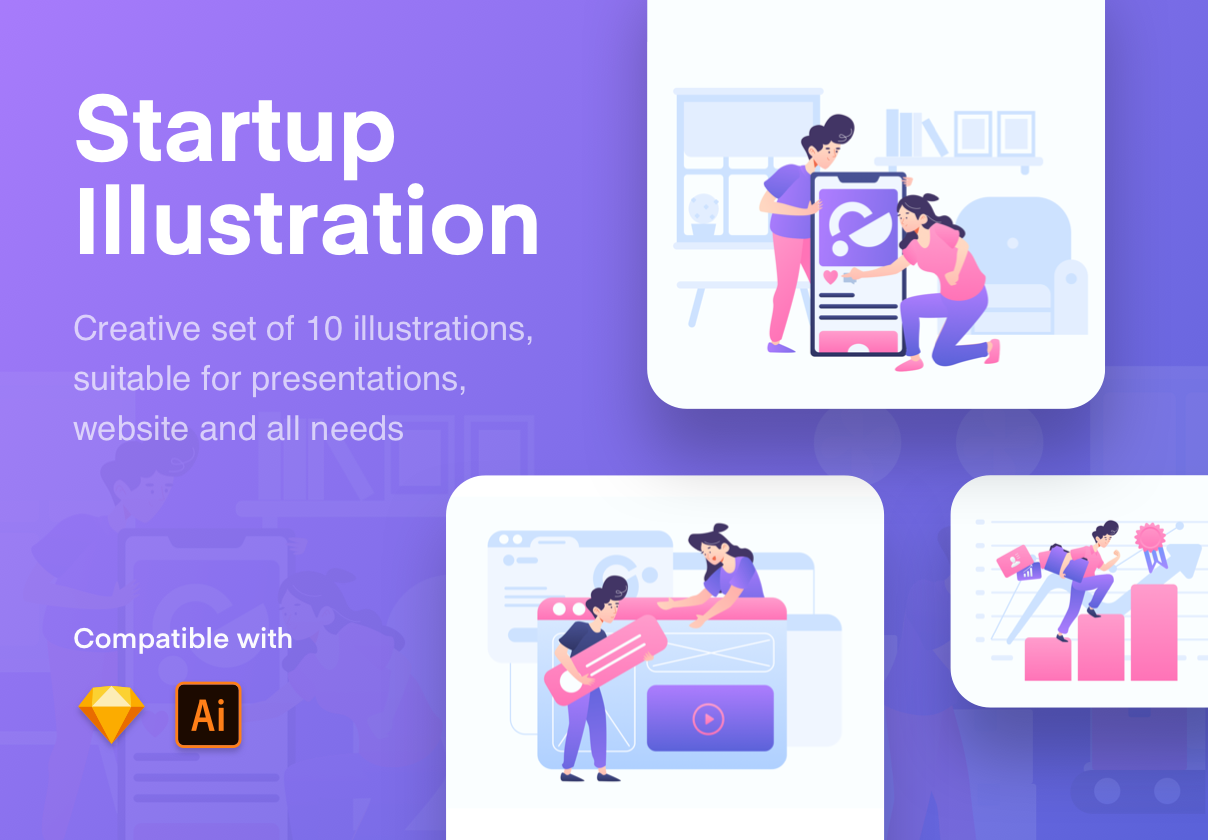 Start Up Illustration Kit