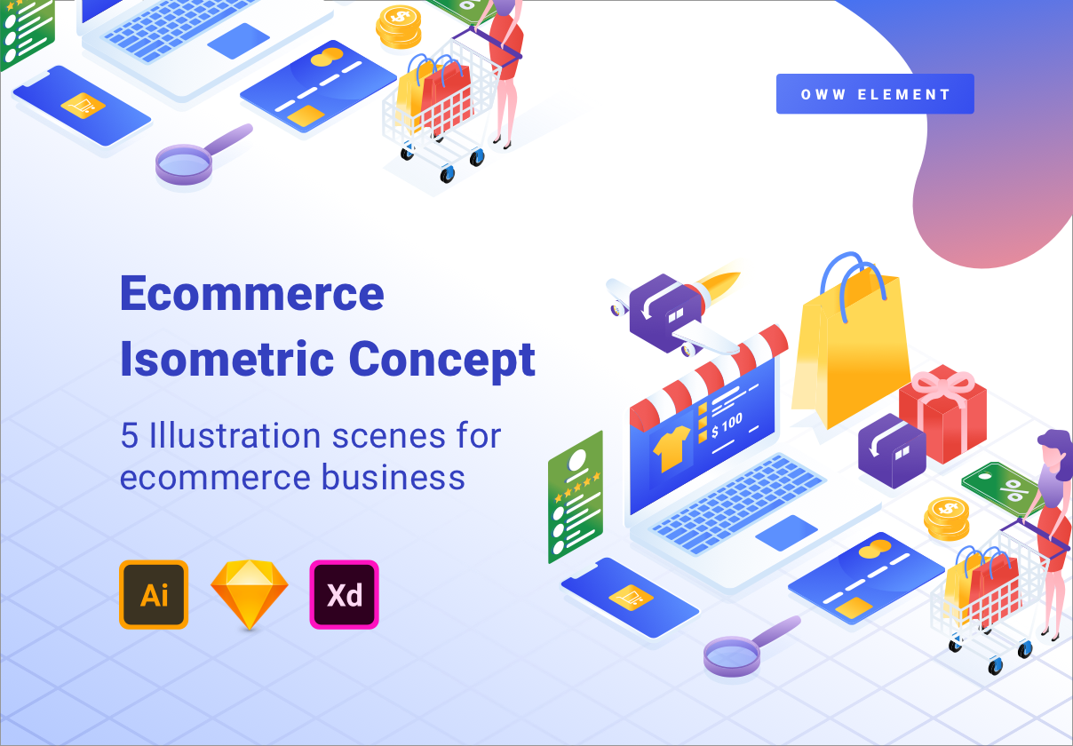 Ecommerce Isometric Illustration 1