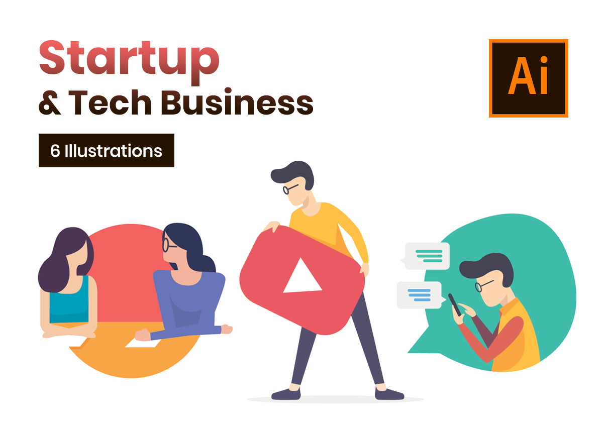Startup & Tech Business Illustrations