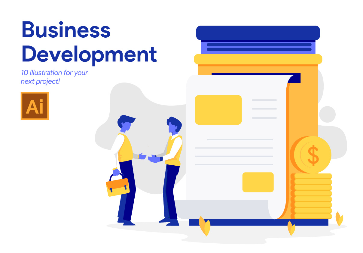 10 Business Development Illustration