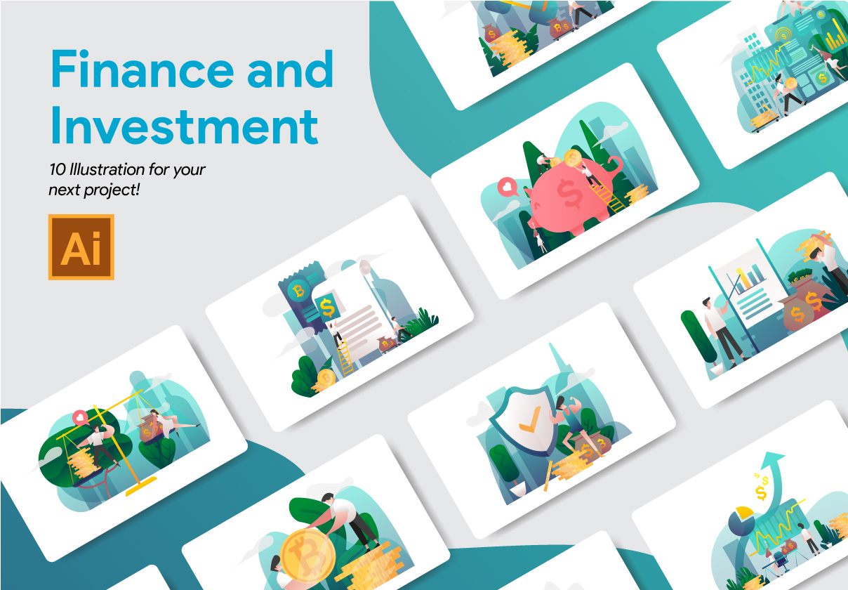Finance and Investment Illustration Vol 1