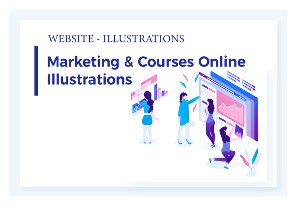 Marketing & Courses Illustrations