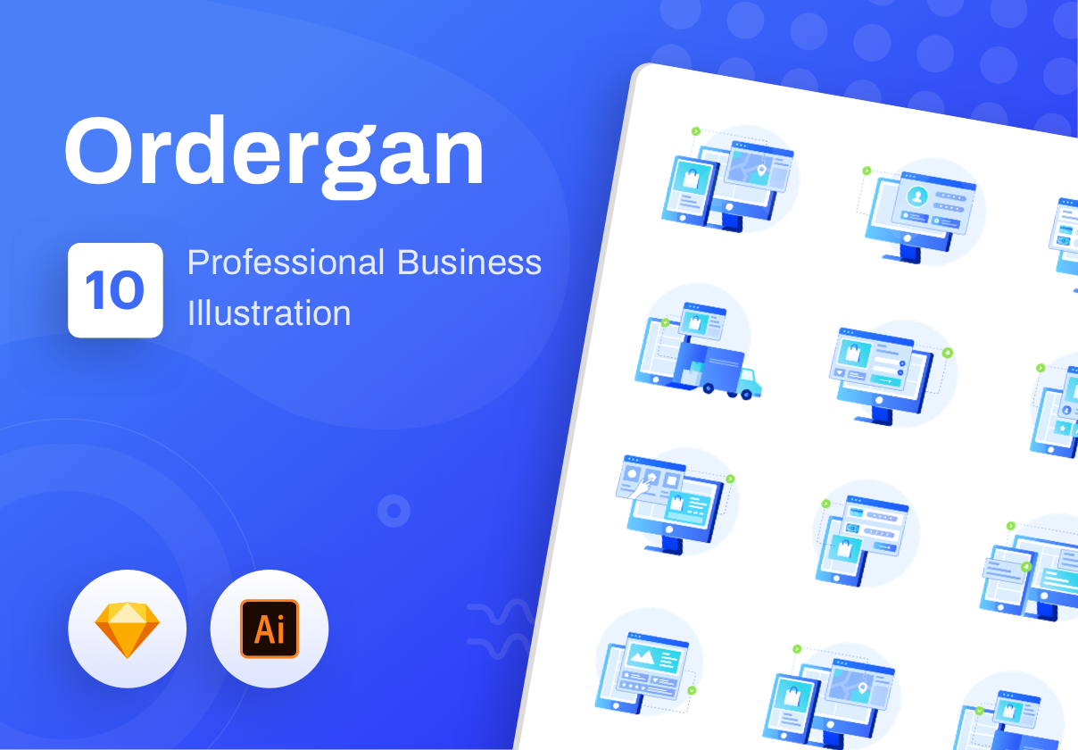 Ordergan : icon illustration