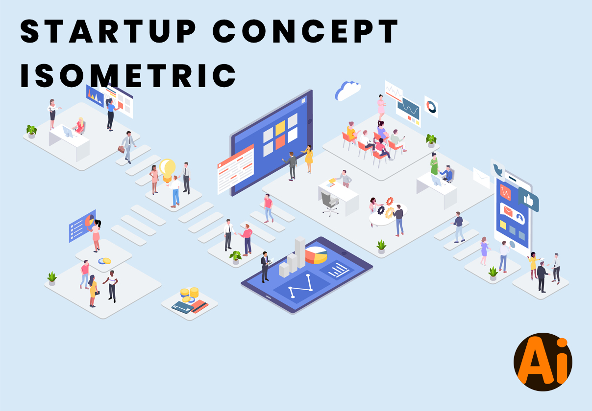 Startup Concept Isometric