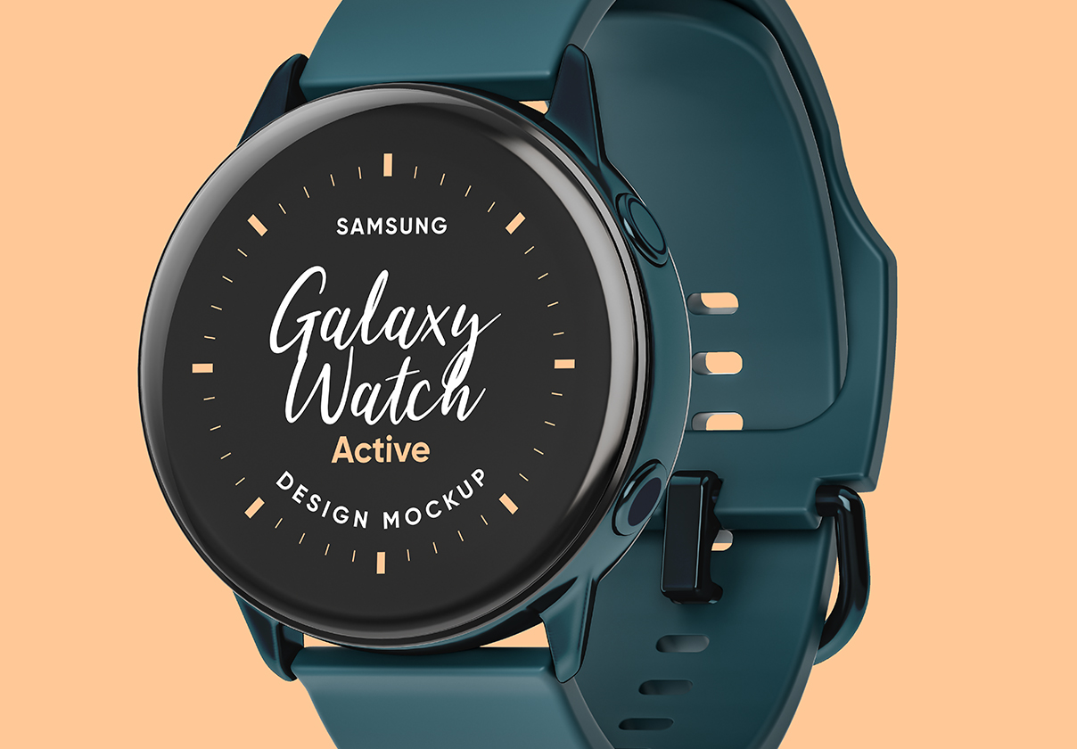 Samsung Galaxy Watch Design Mockup