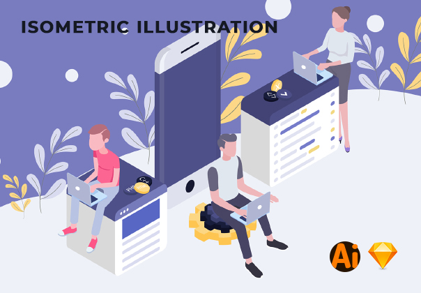 Concept Isometric Illustrations