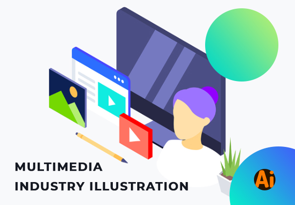 Multimedia Industry Isometric