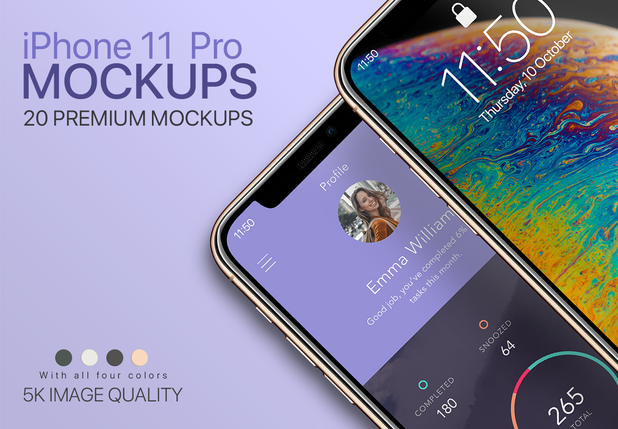 20 Mockups of iPhone 11 Pro