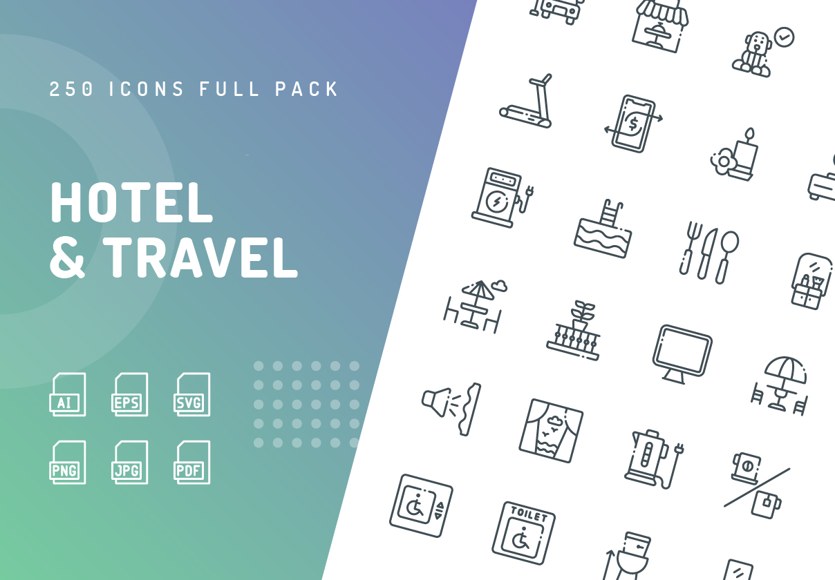 Hotel & Travel Icons