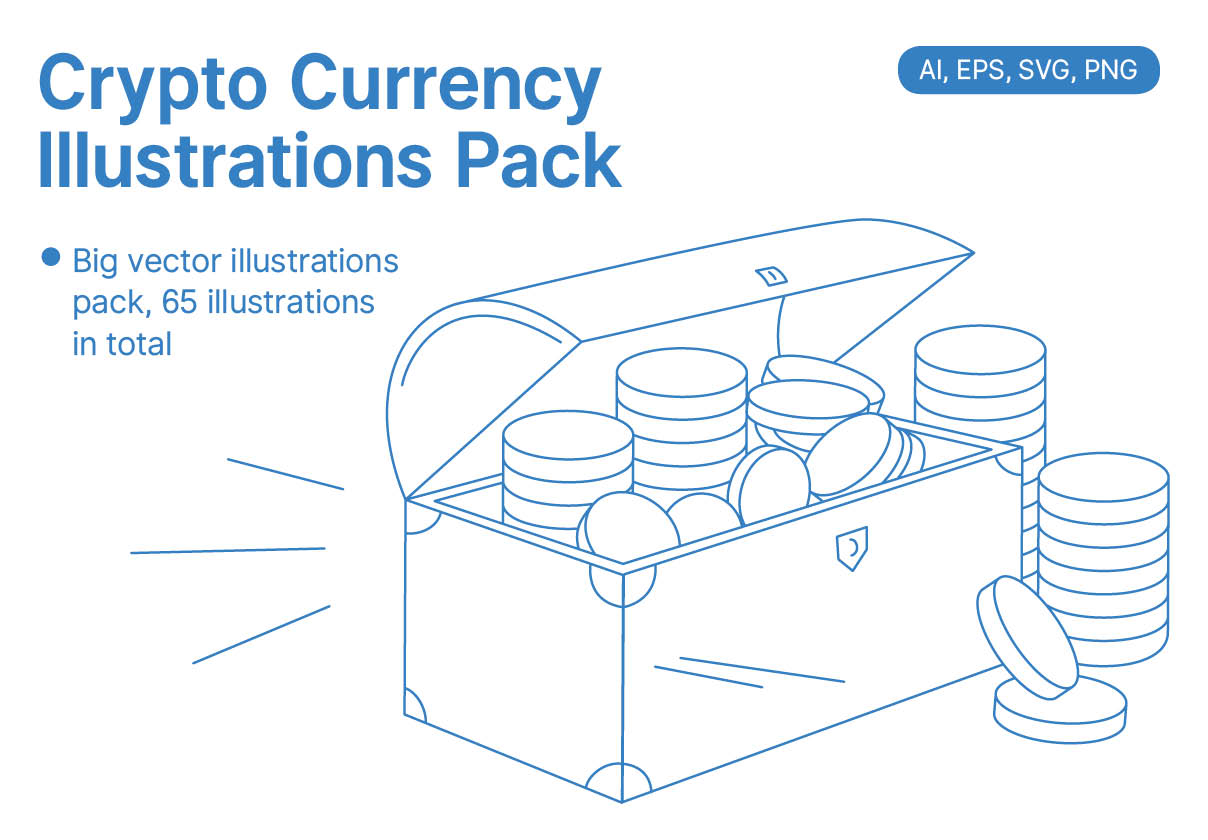 Crypto-currency Illustrations Pack