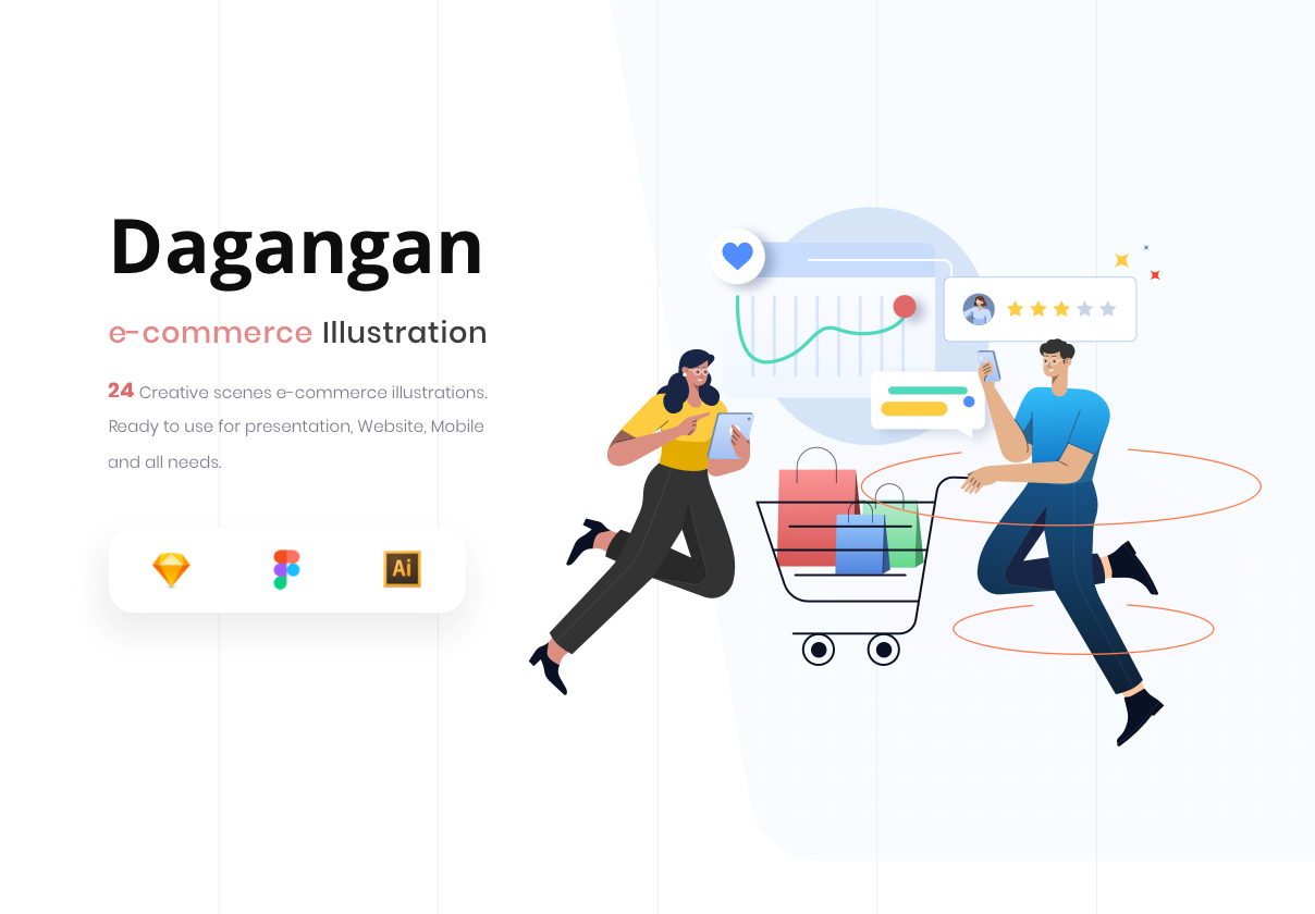 Dagangan – E-commerce and Business Illustration Pack
