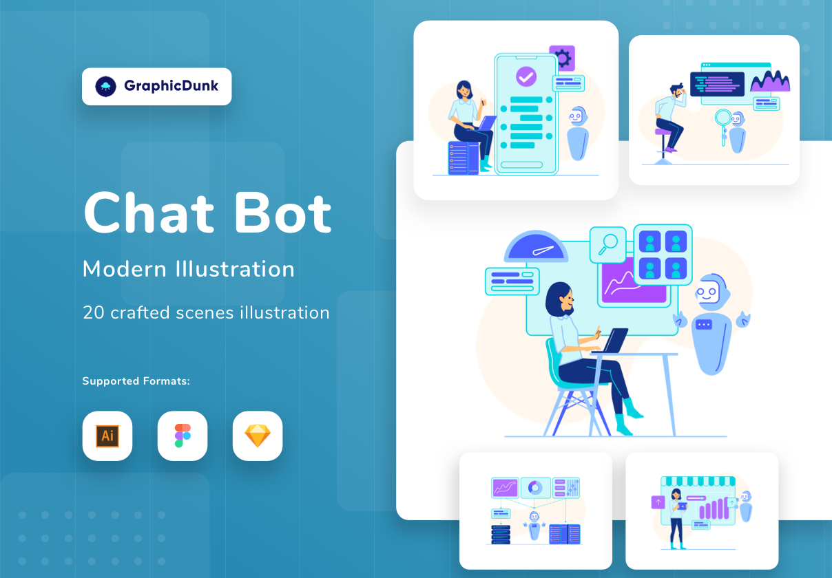 Chatbot – Artificial Intelligence Illustration