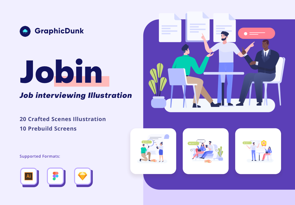 Graphicdunk – Job Interview Illustration Kit