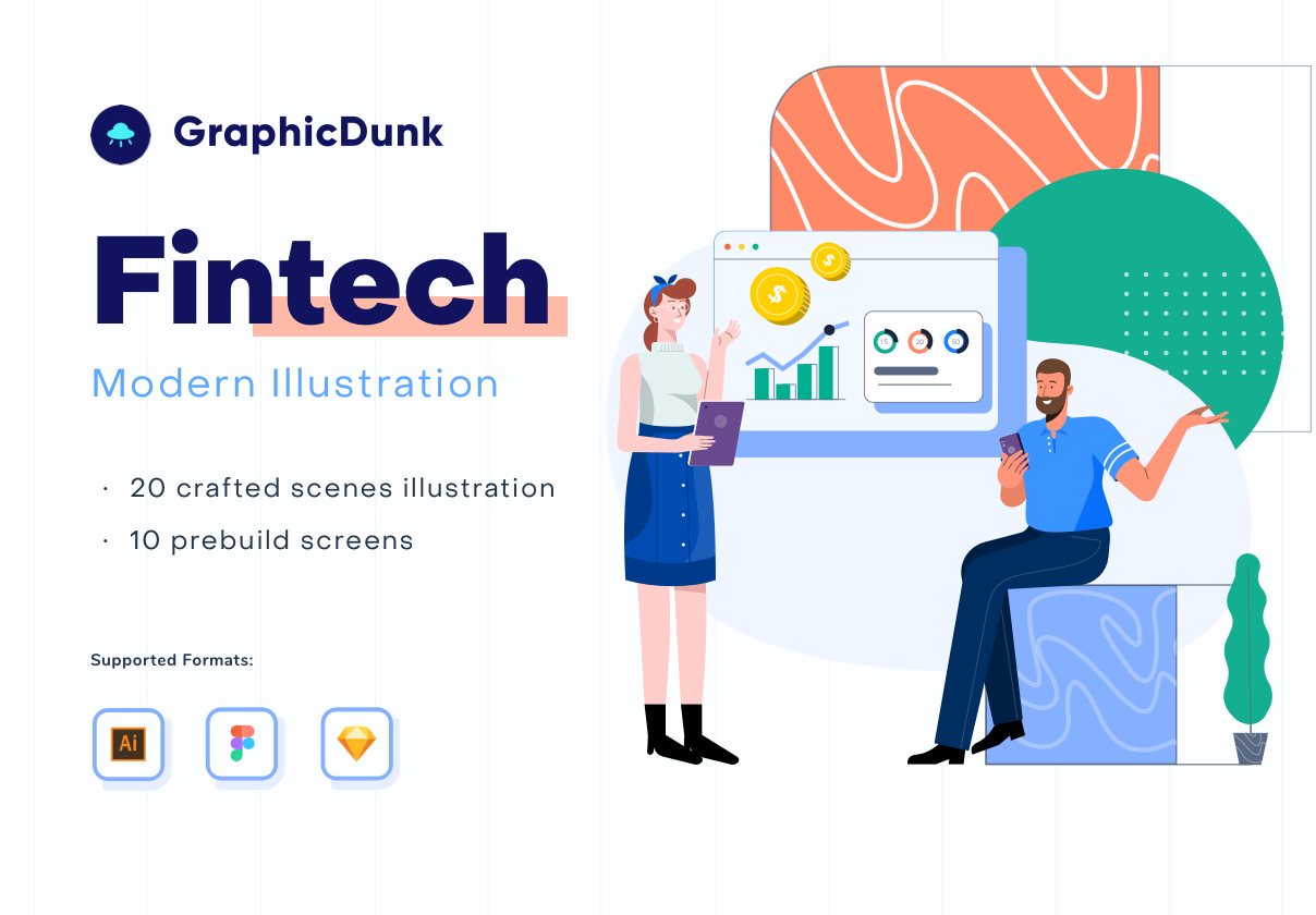 Graphicdunk – Fintech and Investment Illustration Kit