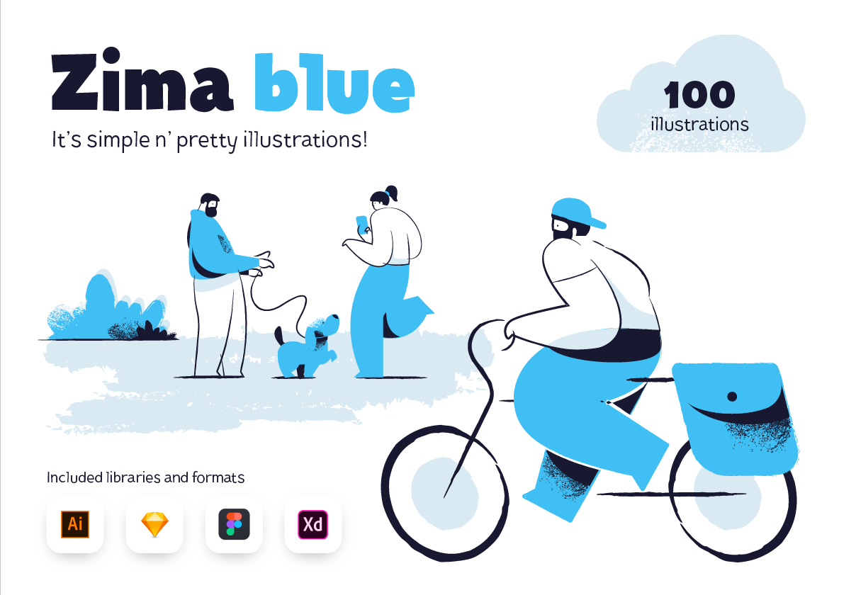 Zima Blue Illustrations