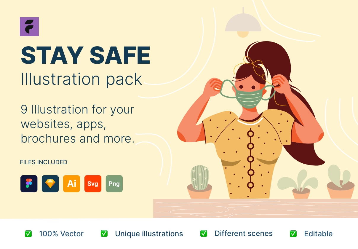 Stay Safe Illustrations