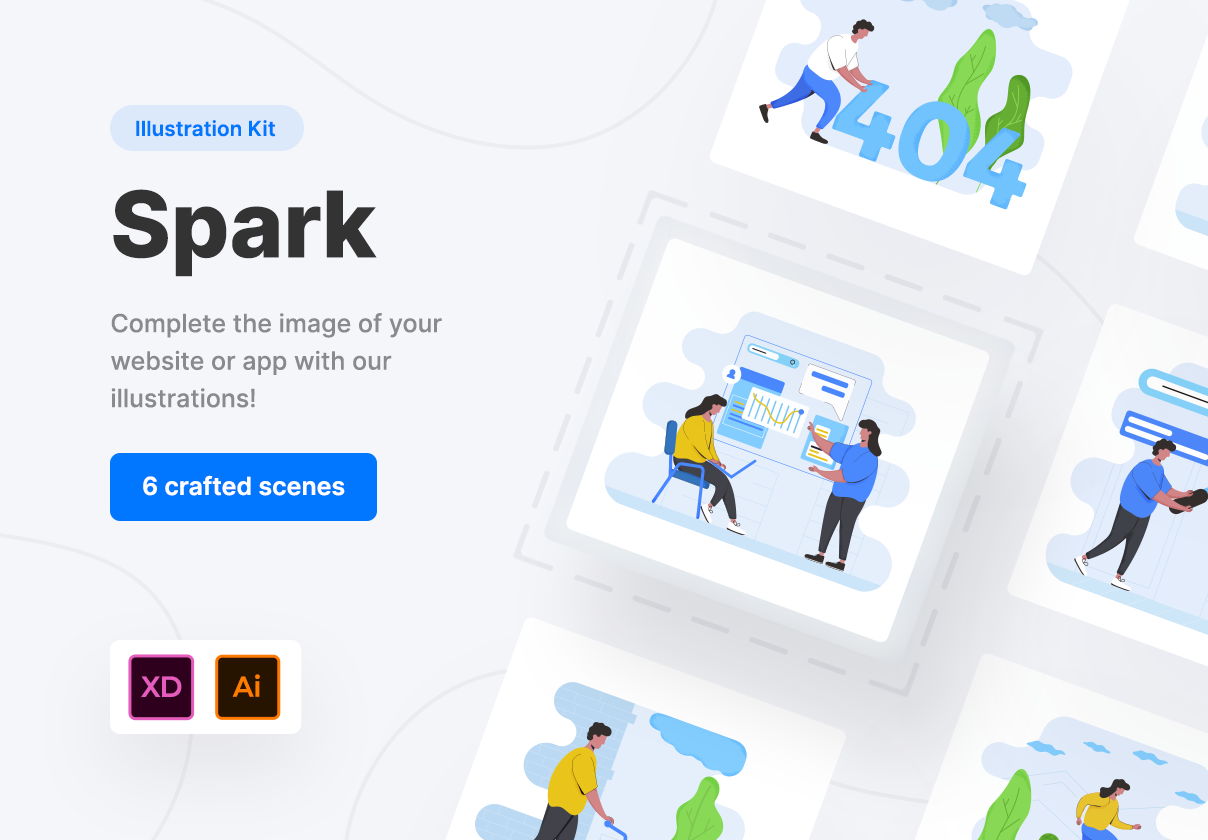 Spark Creative Illustration Kit