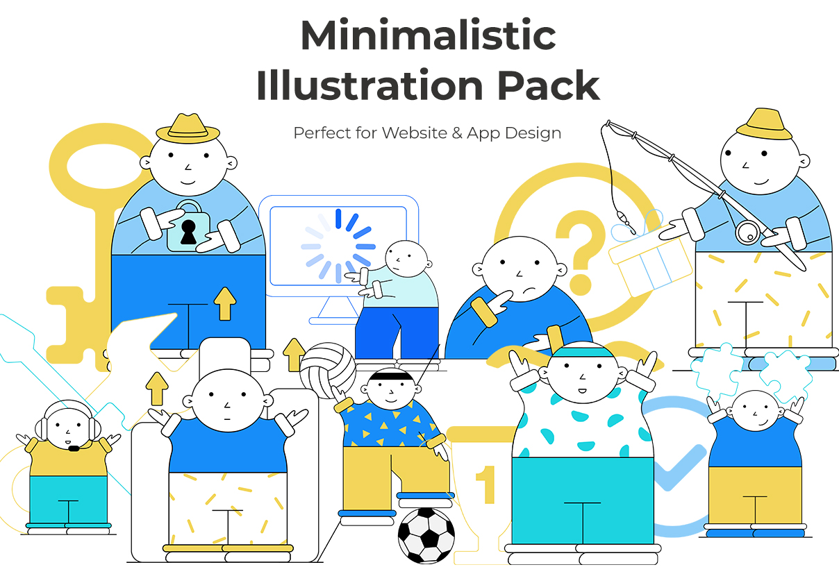 Minimalistic Illustration Pack