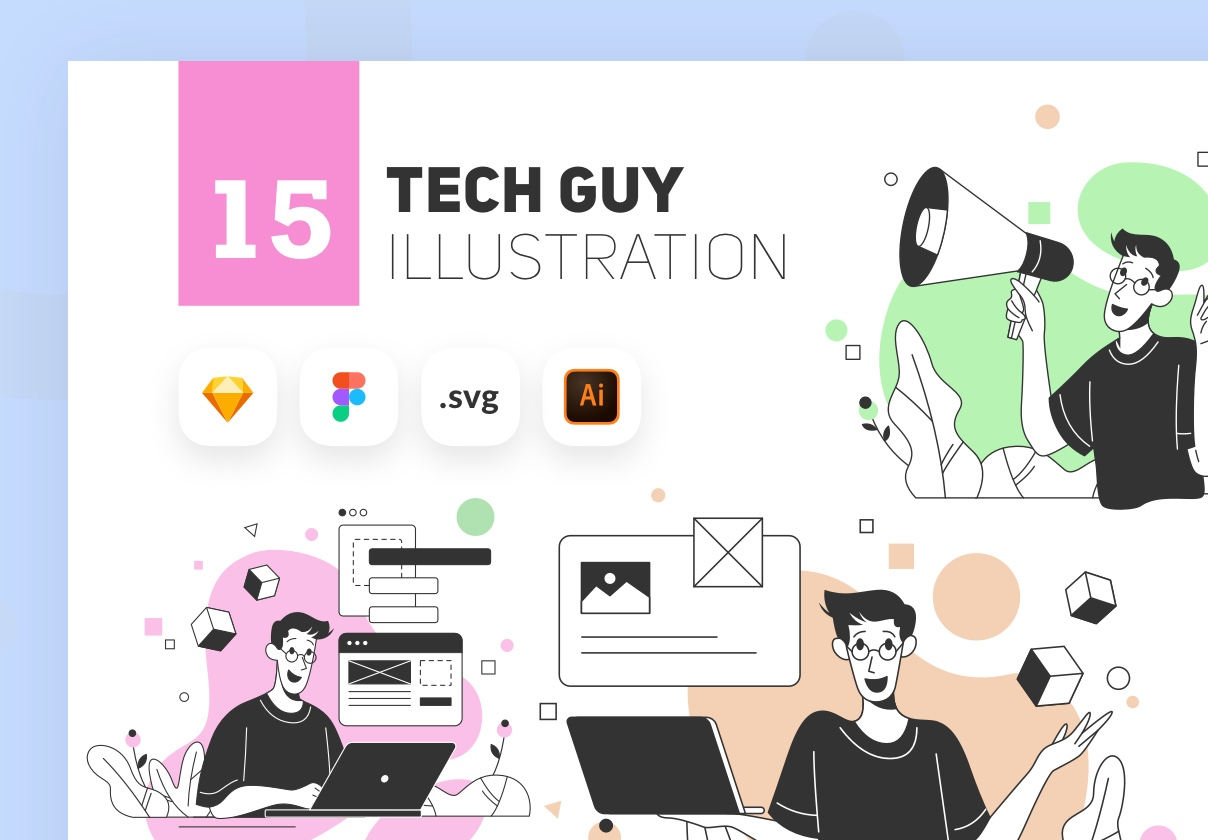 Tech Guy Illustration Kit