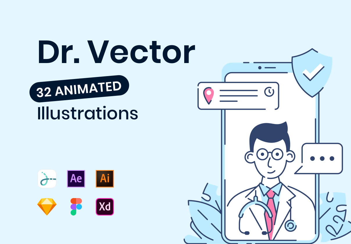 Dr. Vector Animated Illustrations