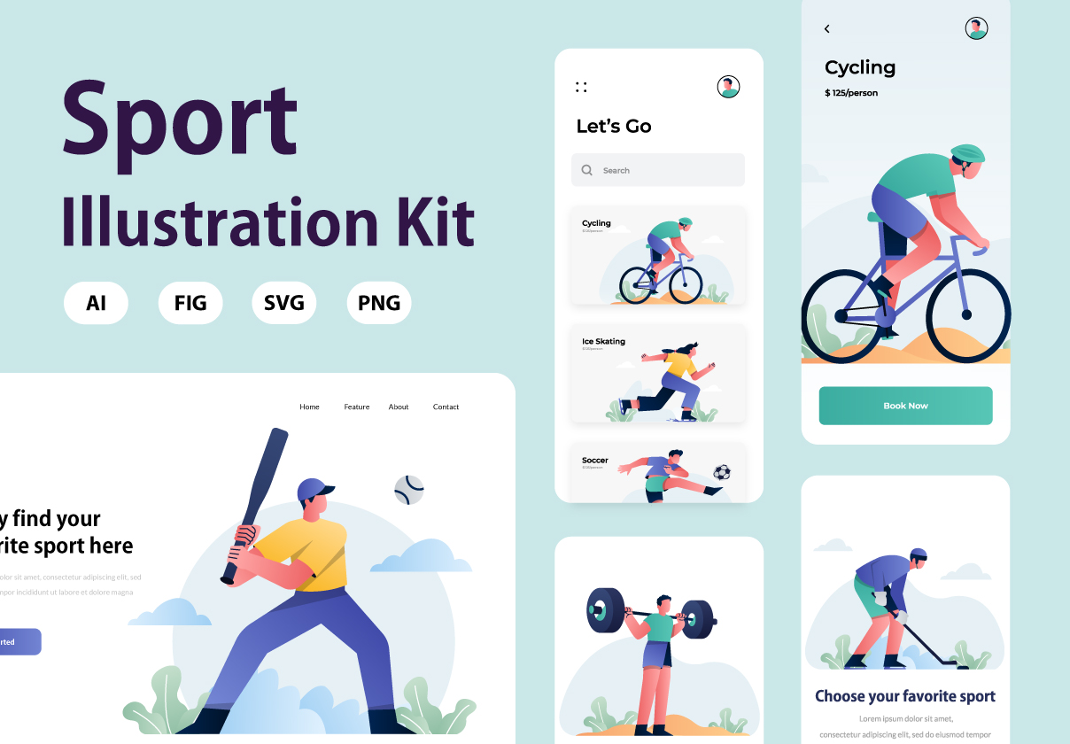 Sport Illustration Kit Vol.1