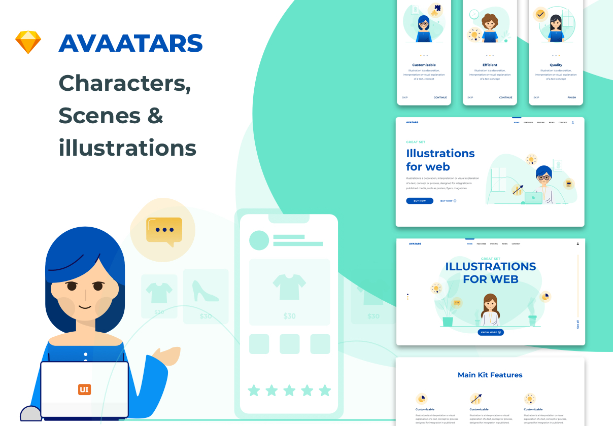 Avaatars – illustration Library for Web & Mobile