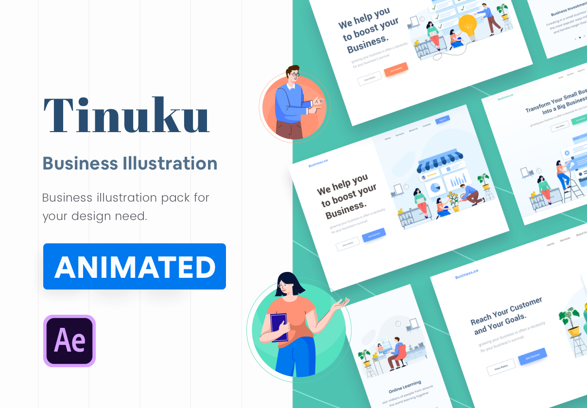 Tinuku – Animated Startup & Business Illustrations