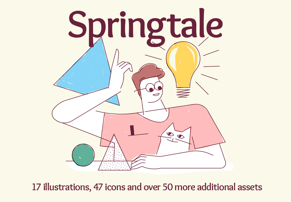 Springtale – illustration pack