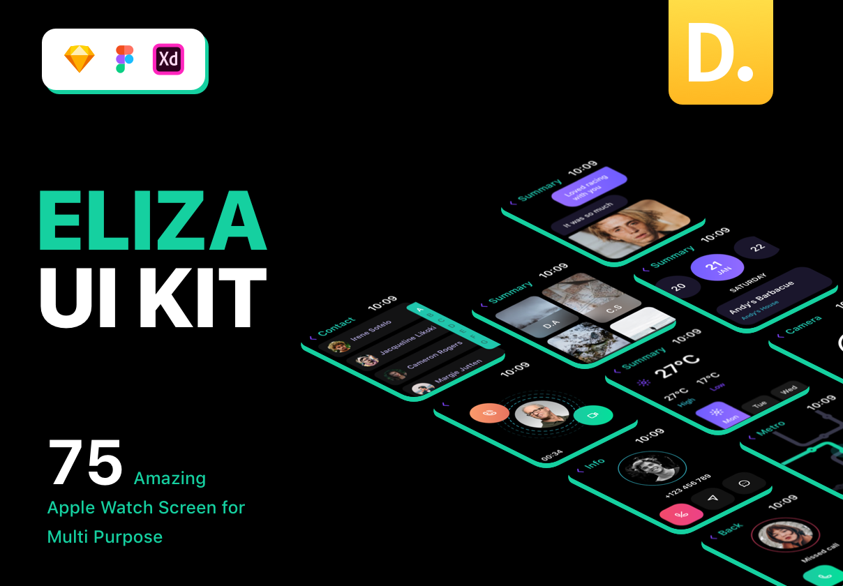 Eliza – Apple Watch UI Kit