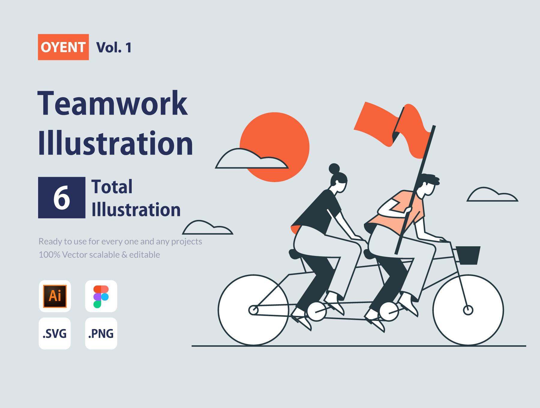 OYENT – Teamwork Illustration Pack
