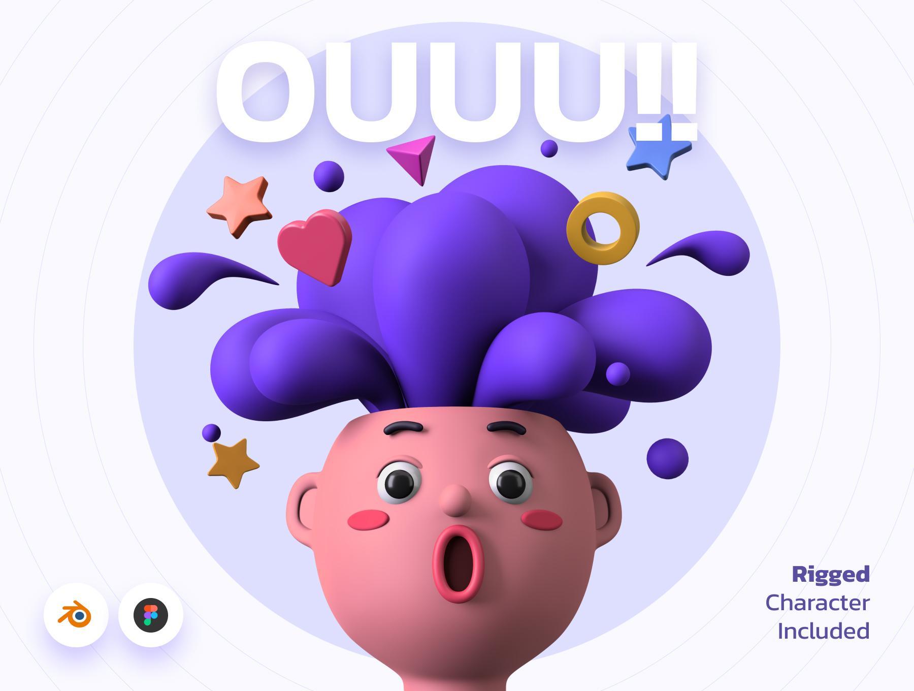 OUUU!!! 3D Illustration